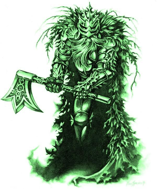 The Green Knight Green Knight Character Art White Art