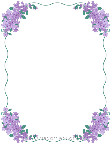 Free Lilac Border Templates Including Printable Border Paper And Clip Art  Versions. File Formats Include GIF, JPG, PDF, And PNG.  Microsoft Office Borders Templates