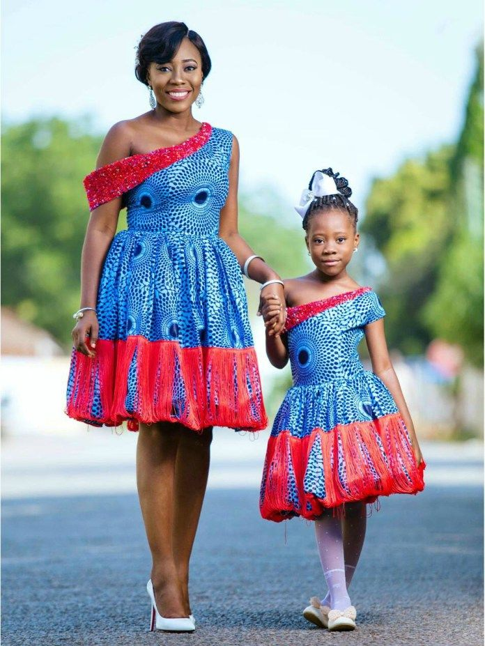 Ankara Twinning Mother And Daughter Matching Styles