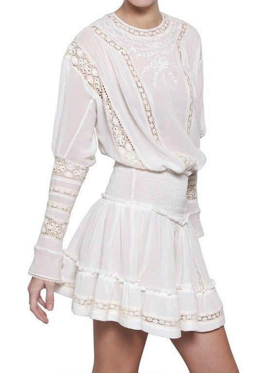 ISABEL MARANT Lace Cotton Crepe Dress   Tatiana ...
