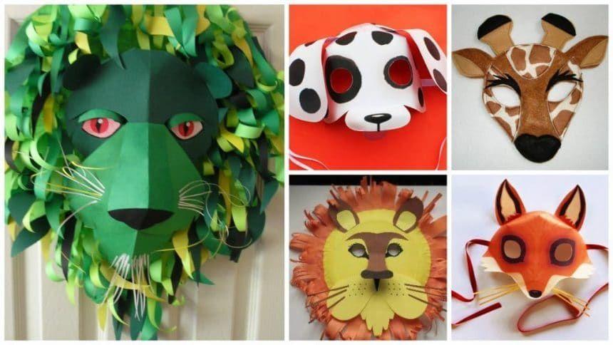 How to make animal mask for kids | Animal masks for kids, Mask for ...