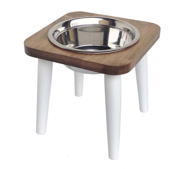 American Maple Raised Dog Feeders come in one or two bowl configurations , white or red painted legs. Sturdy and stylish. Choose 6 or 12 inches tall.