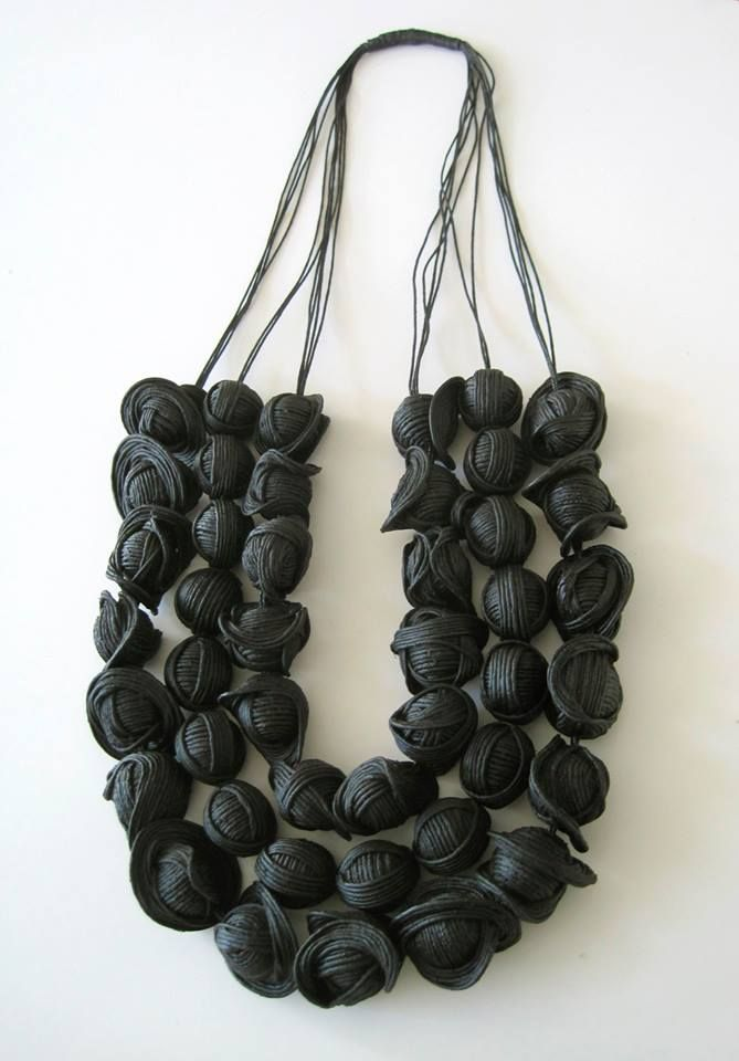 "EXPO Noir basalte - Galit Einav (IL) . : "" I will show two new pieces. One is ethnic:: ""Enigma"" necklace"
