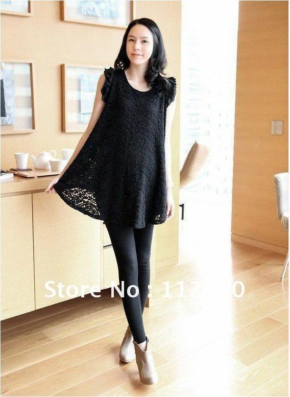 loose maternity dress lace tops korea style 734fcbb29ca9
