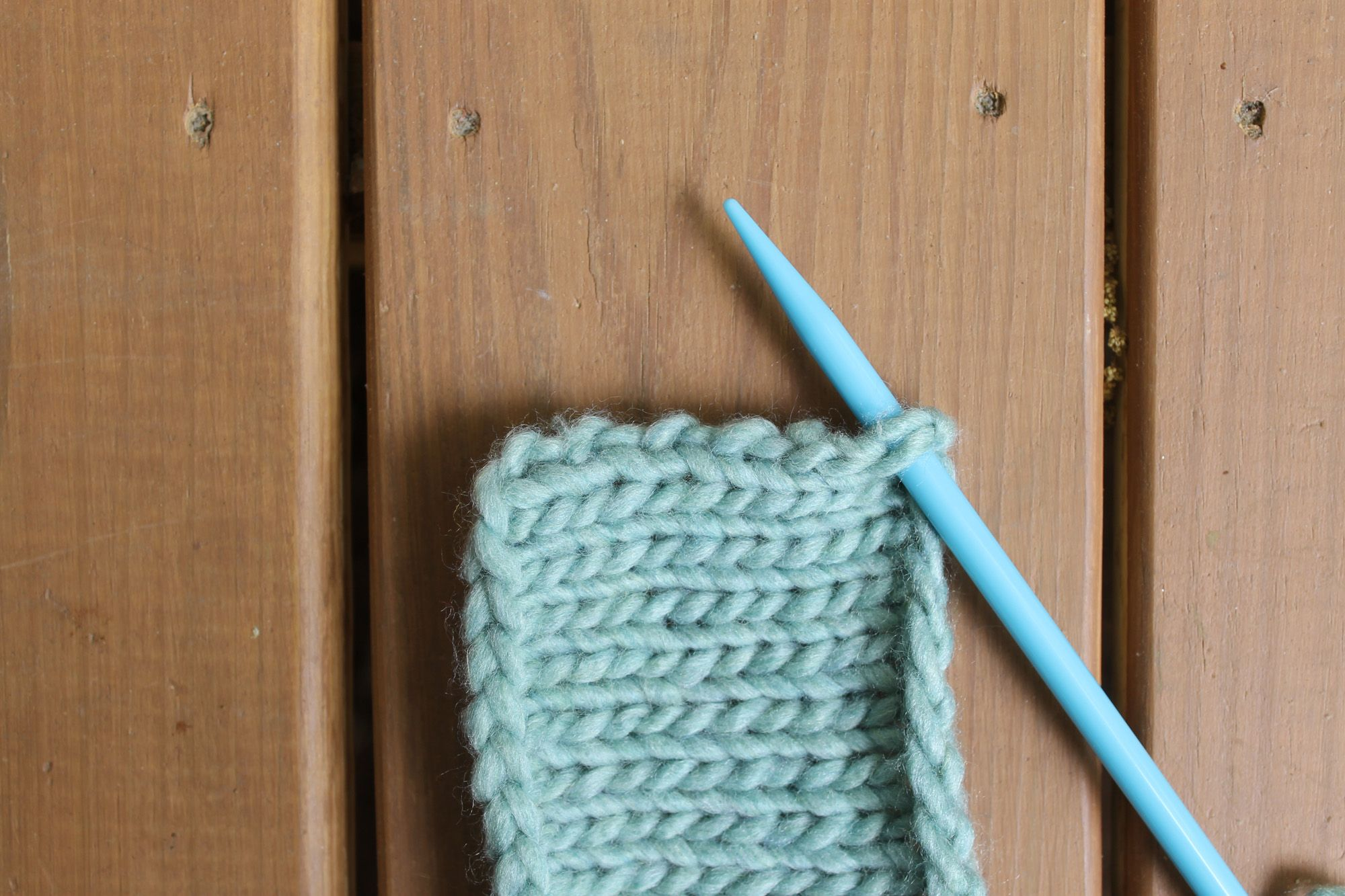 Picking up stitches from a vertical edge Knitting