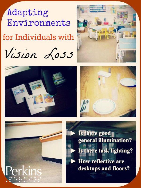 Adapting environments for individuals with vision loss