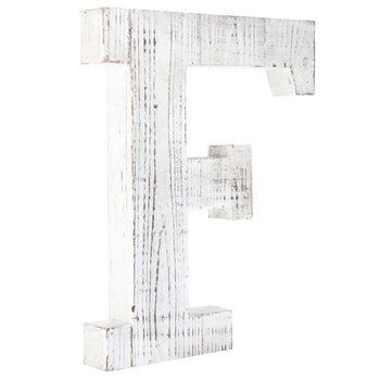 Whitewash Wood Letter Wall Decor F Wood Letter Wall Decor Letter Wall Decor Alphabet Wall Decor