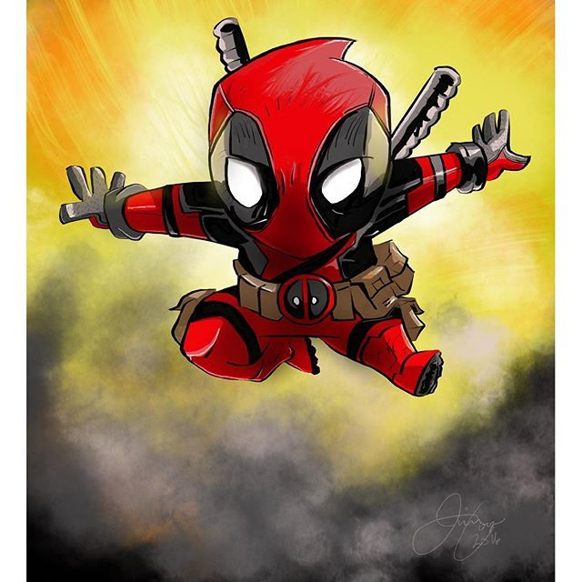 #Little #Deadpool #Fan #Art. (Mini Deadpool) By: Jimmy Cooper. (THE * 5 * STÅR * ÅWARD * OF: * AW YEAH, IT'S MAJOR ÅWESOMENESS!!!™) [THANK U 4 PINNING!!!<·><]<©>ÅÅÅ+(OB4E)     https://s-media-cache-ak0.pinimg.com/564x/bd/fa/89/bdfa893d713d73097a679be23dd8fcc7.jpg