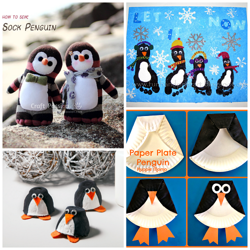 Paper Plate Penguin Craft- use hand outline as feet : paper plate penguin craft - pezcame.com