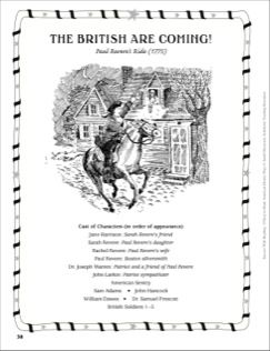 The British Are Coming (Paul Revere's Ride, 1775): An Easy