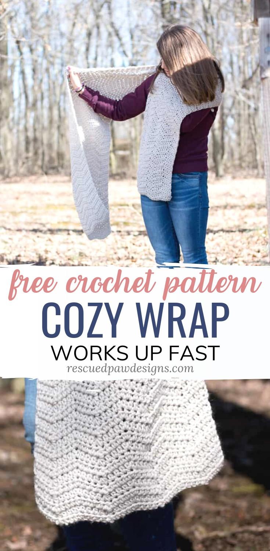 Crochet Shawl Pattern & Wrap - Easy Crochet