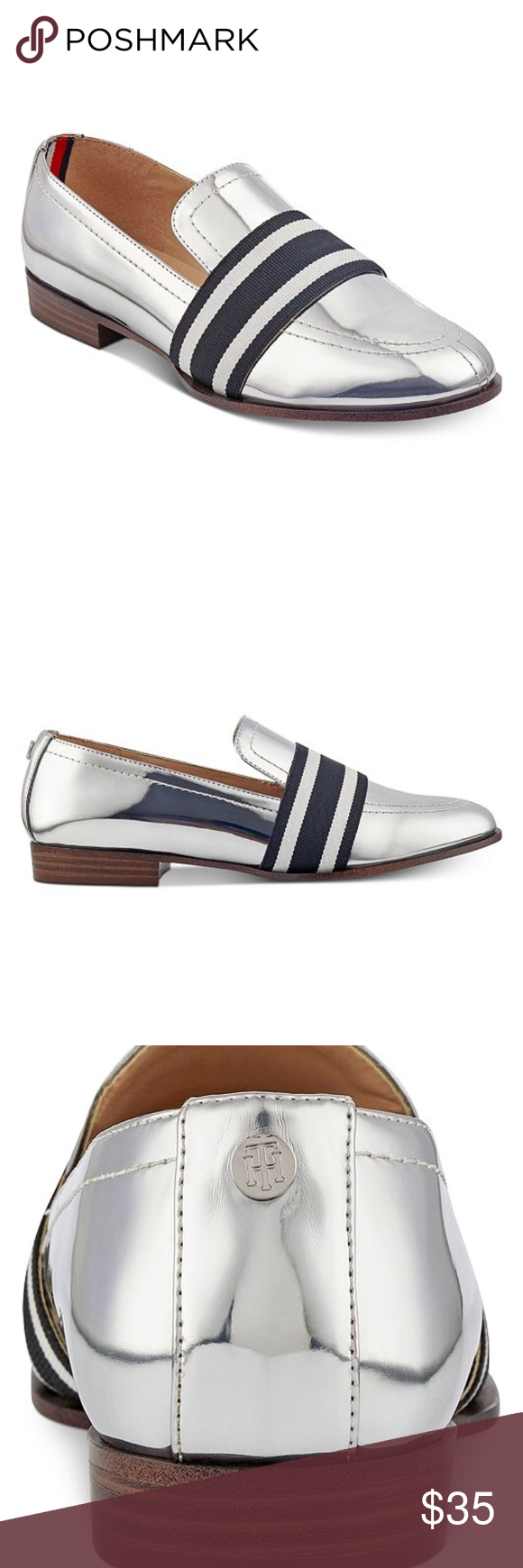 e05fa7c07 Tmmy Hilfiger silver loafers Tommy Hilfiger Women s Ignaz Loafers. Never  used Tommy Hilfiger Shoes Flats   Loafers