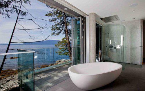Le foto dei bagni moderni più belli del mondo con una vista ...