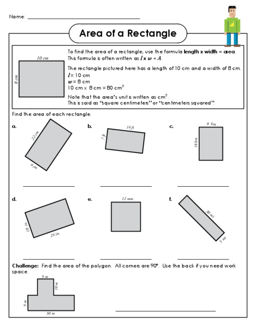 Area Of A Rectangle Worksheet 3 Kidspressmagazine Com Free Math Worksheets Worksheets Rectangle