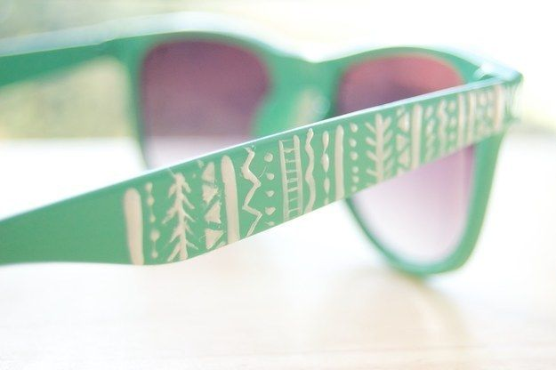 Get creative with this design. | Community Post: 16 DIY Sunglasses You'll Actually Want To Wear This Summer