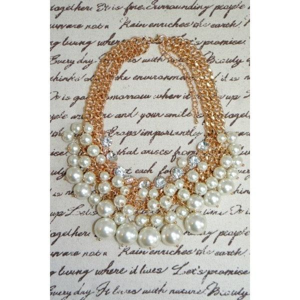 Bubbly Pearl Cluster Statement Necklace