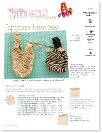 Japanese Knot Bag Free Crochet Pattern From Knitting Universe P