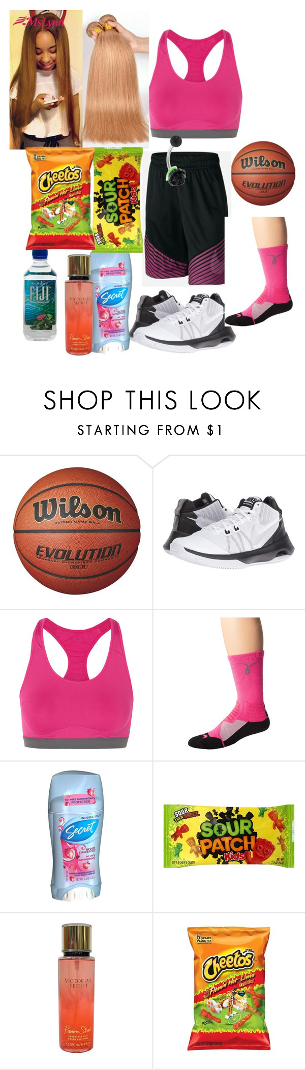 """Untitled #198"" by princesskissbonilla ❤ liked on Polyvore featuring NIKE, Secret and Victoria's Secret"