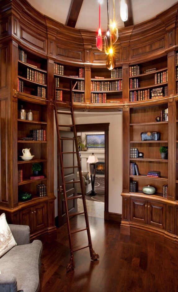 Interior Designs Marvellous Design A Home Library With Custome Size Book Shelves Shelving Gray Sofa Wooden Floor Hanging Bulb Lamp Ceiling