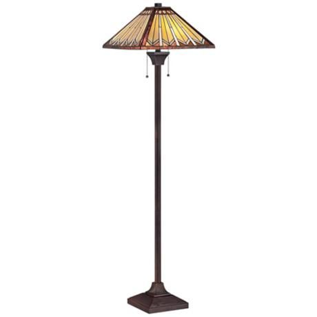 250 Tanner Mission Tiffany Style Quoizel Floor Lamp
