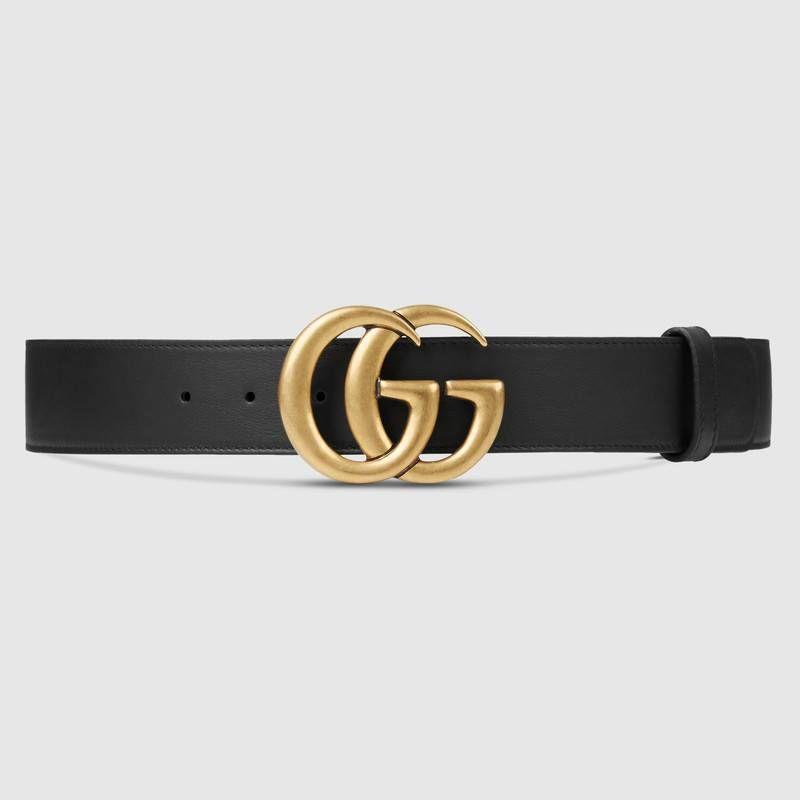 Gucci Leather Belt With Double G Buckle Mit Bildern Gucci Gurtel Leder Ledergurtel