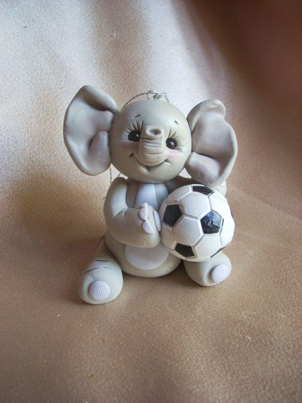 elephant Christmas ornament Cake Topper soccer sports