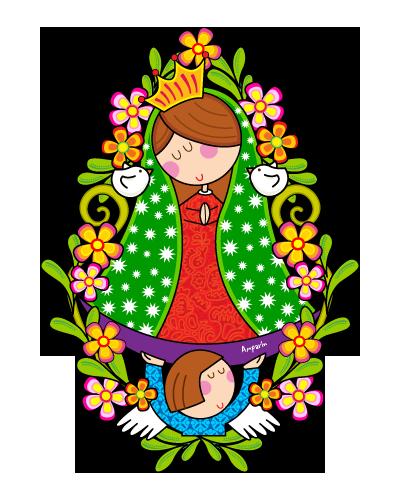 Original Png 400 500 Virgencita De Guadalupe Caricatura Dibujos De Primera Comunion Virgen Caricatura