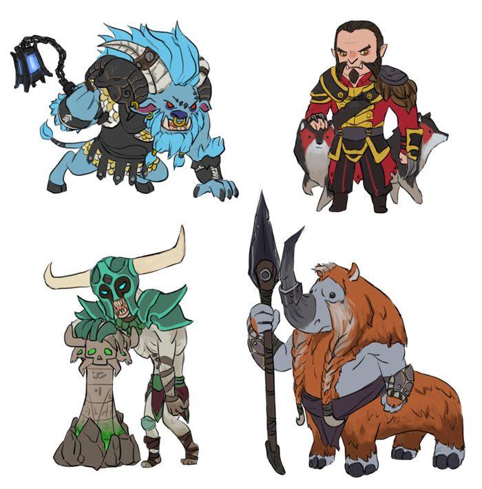 Earthshaker, Tiny Timbersaw, Kunkka Alchemist, Tusk ...