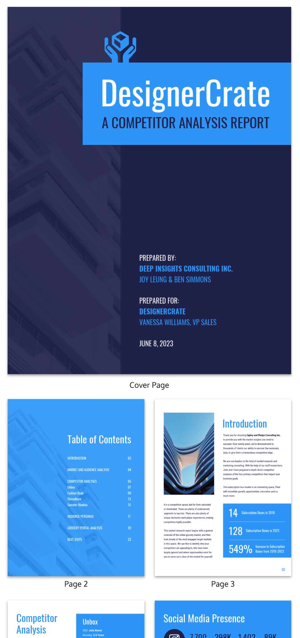 19 Consulting Report Templates That Every Consultant Needs Venngage Case Study Template Competitor Analysis Report Template