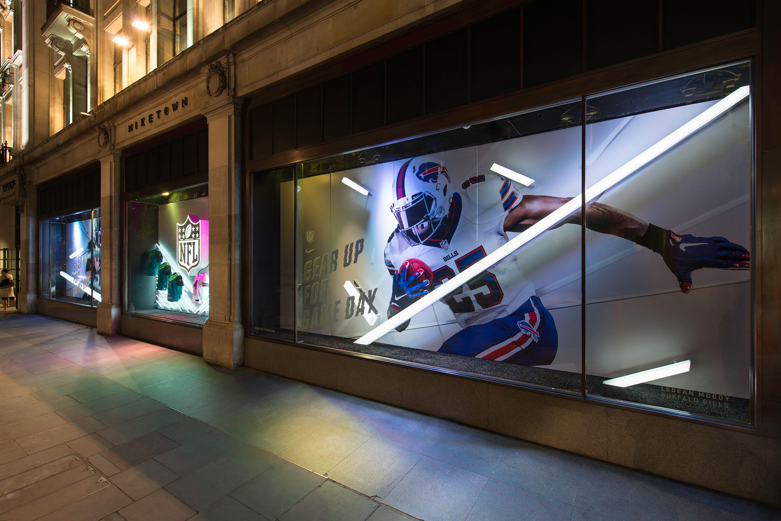 Another successful collaboration with Nike saw Millington Associates  deliver spectacular in-store and window schemes at Niketown London to  celebrate this ...