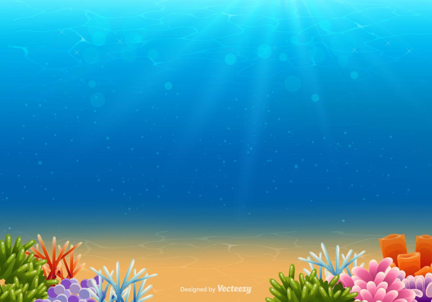 Underwater Vector Background Underwater Background Vector Background Vector Art Design