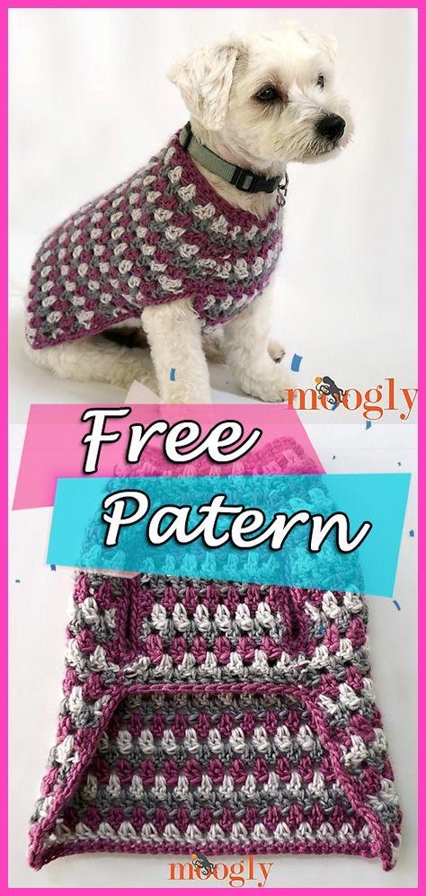 Well Dressed Dog Coat Crochet Free Patten Pet Clothing Crochet