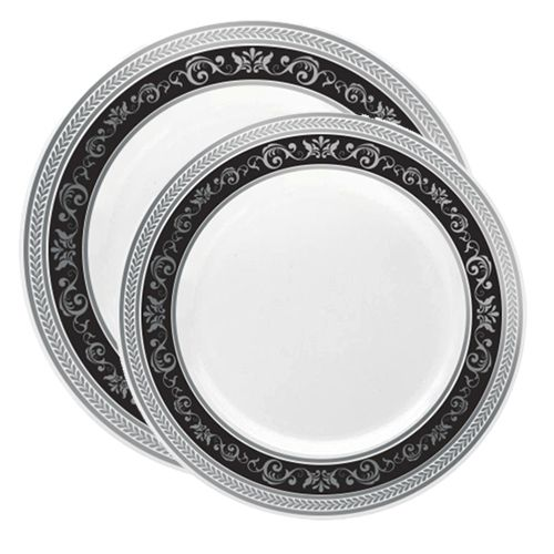 Royal White with Black/Silver Rim - Combo Value Set  sc 1 st  Pinterest & Royal White with Black/Silver Rim - Combo Value Set | Disposable ...