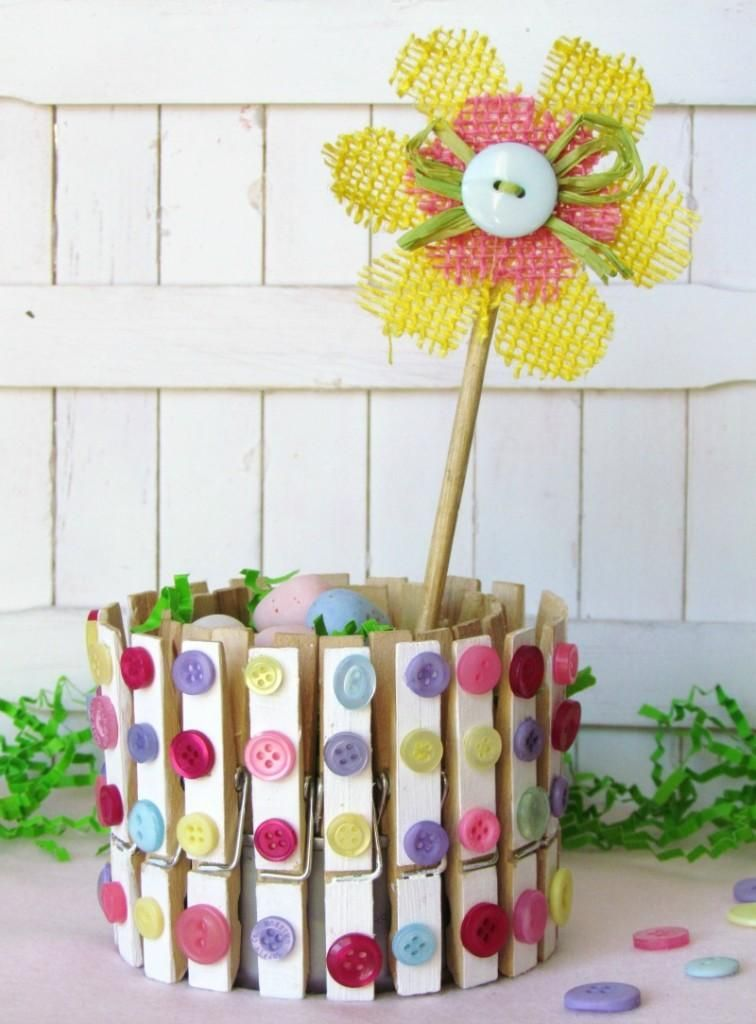 Charming Home Decor Crafts Part - 14: DIY Tutorial: DIY Clothespin Crafts / DIY Clothespin Craft Spring Home Decor  - Beadu0026Cord