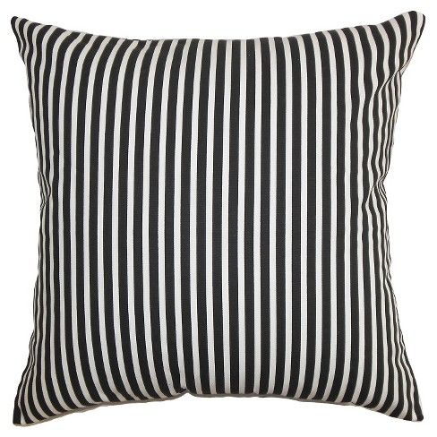 this black ticking stripe throw pillow from the pillow collection is an ideal highlight piece for your sofa bed or seat made of cotton this plus - The Pillow Collection