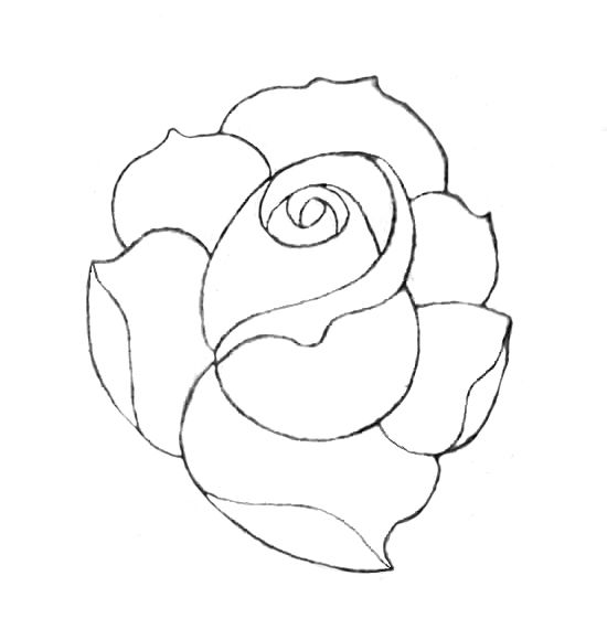 Black And White American Traditional Rose
