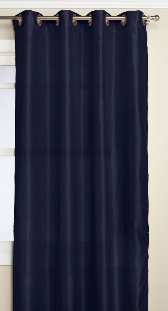 RT Designers Collection Nancy Grommet Window Panel, 54 by 84-Inch, Navy Blue #RTDesignersCollection