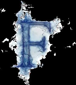 Misterioso Alfabeto Azul Oh My Alfabetos Fotos De Letras Letras De Fuego Letra F