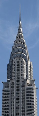 chrysler building is an art deco style skyscraper in new york city