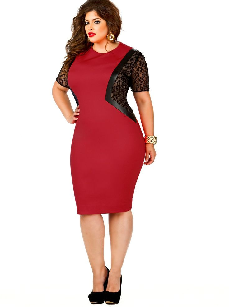 Cute red dresses for plus size | Wedding dress | Pinterest | Size ...