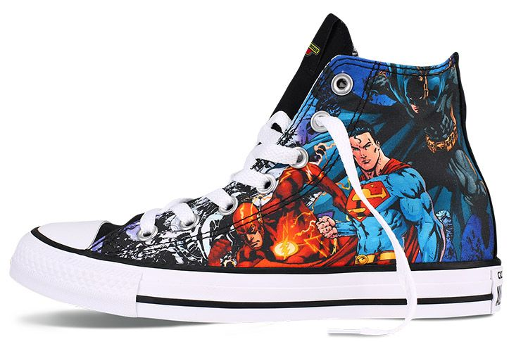half off 68f34 eb5c5 Converse DC Comics Justice League Chuck Taylor High Tops  converse  shoes