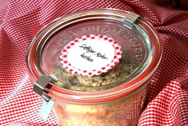 Kuchen im Glas (Rezept für saftigen Mohnkuchen)