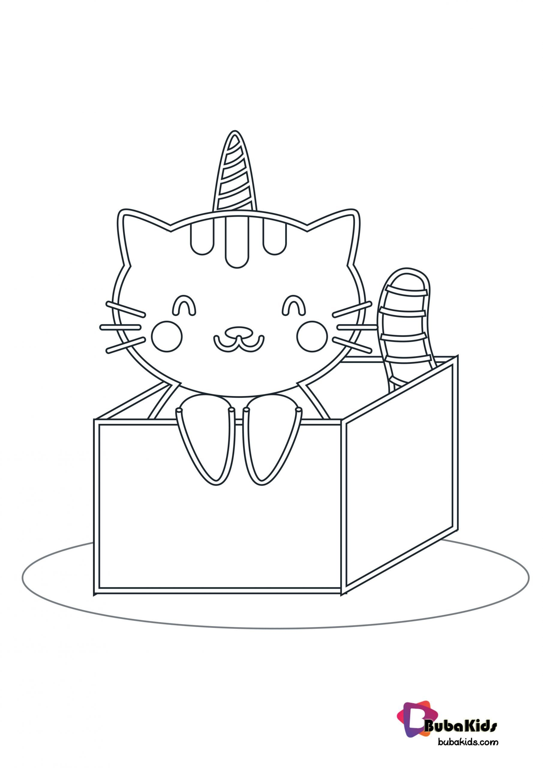 Cat In The Box Coloring Page Collection Of Animal Coloring Pages For Teenage Printable That You C Animal Coloring Pages Coloring Pages Printable Coloring Book