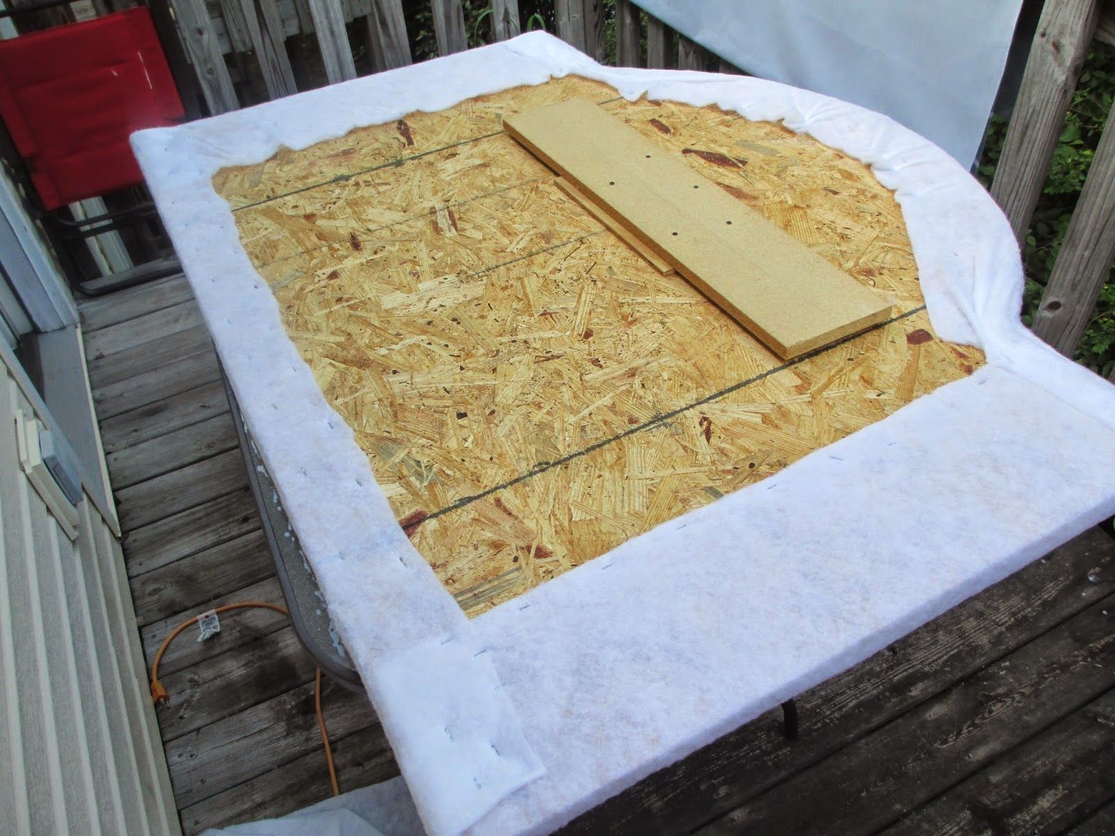 Step by step instructions to make a headboard