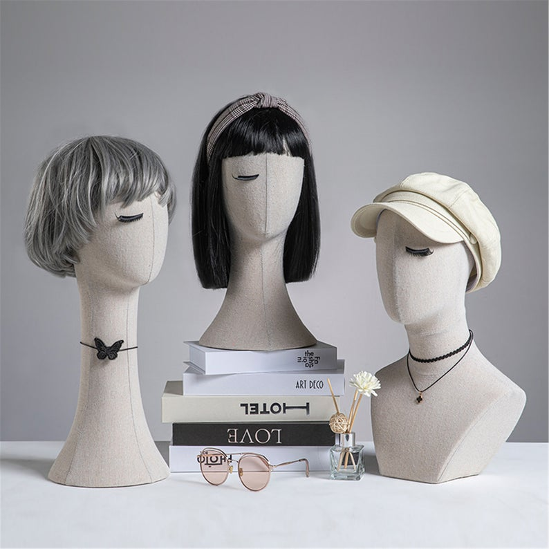 Pinnable Mannequin Holder Stand White Lace Surface Mannequin Etsy In 2021 Mannequin Head Stand Earring Display Stands Jewellery Display