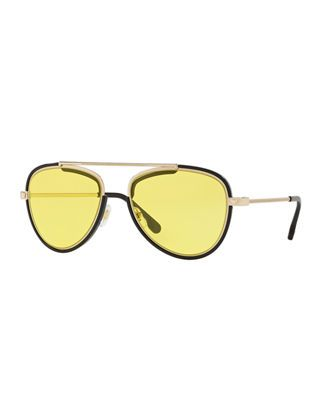 d9da70ea22a7 Versace Men's Metal Aviator Sunglasses with Medusa | Products in ...