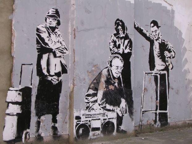 HOODIE GRAFFITI BANKSY STYLE   ART WALL LARGE IMAGE GIANT POSTER !