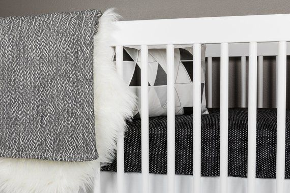 Crib Bedding Black And White Baby Bedding Hearts Crib Bedding