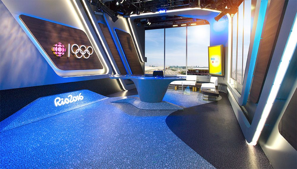 Cbc Teases Rio Olympic Set Design With Images Tv Set Design