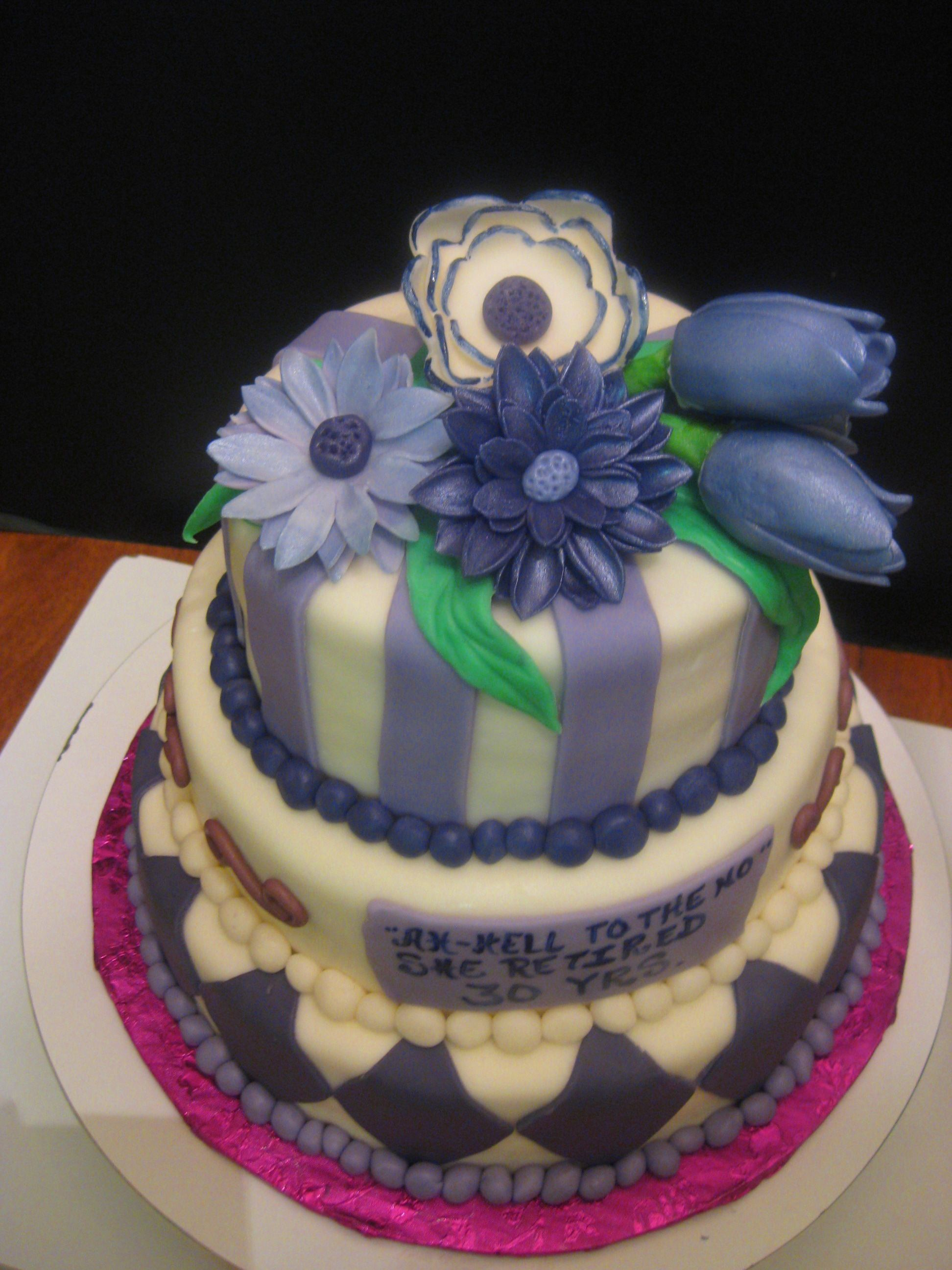Mixer Of Purple Flowers Birthday Cakes Pinterest Mixers